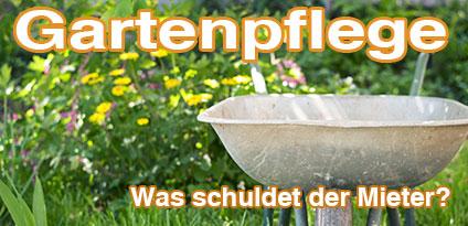 Gartenpflege, was schuldet der Mieter?